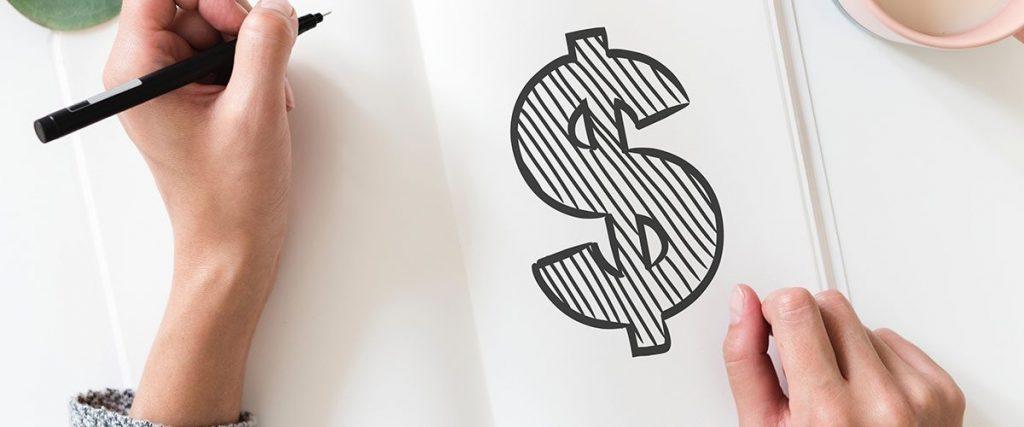 simbolo del dollaro disegnato - budget per i viaggi di maturità 2019