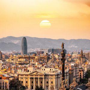 Barcellona dall'alto al tramonto - gita scolastica