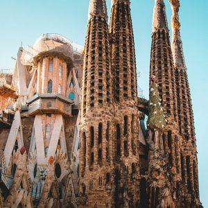 Sagrada Familia a Barcellona durante gita scolastcia