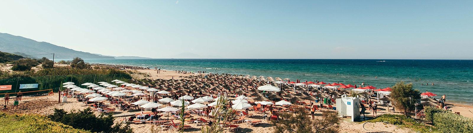 Beach party del Viaggio di Maturità a Zante - Banana Beach