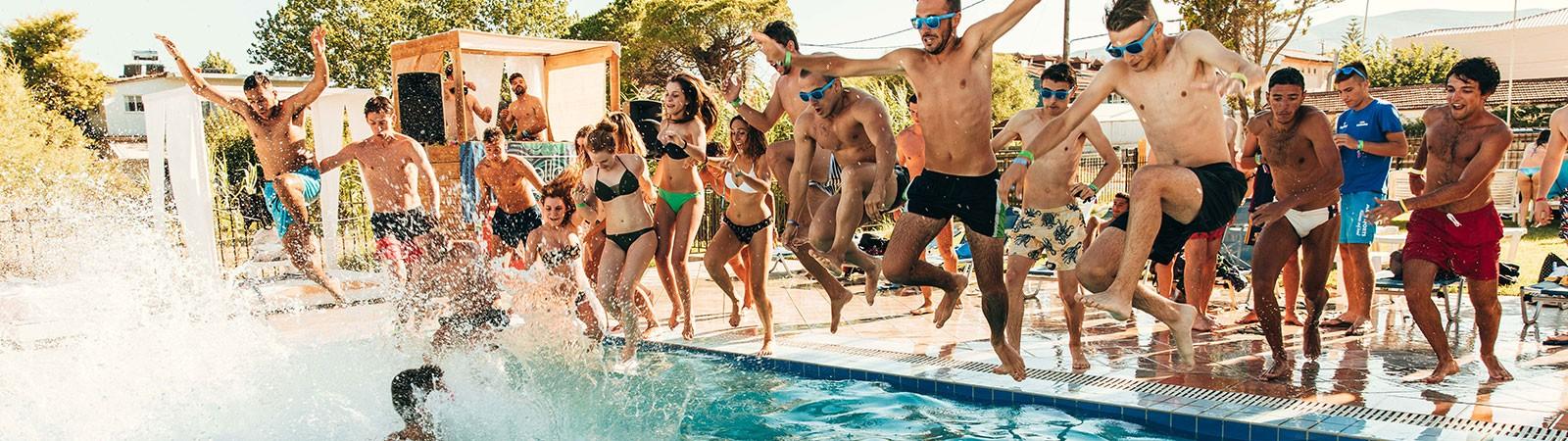 Pool party a Zante