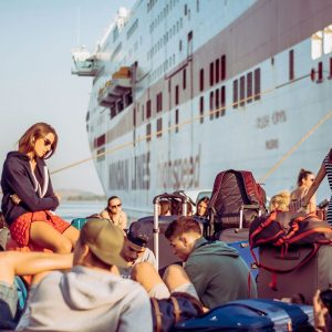 Attesa al porto - Viaggio di Maturità in nave
