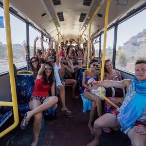 Shuttle bus del Viaggio di Maturità
