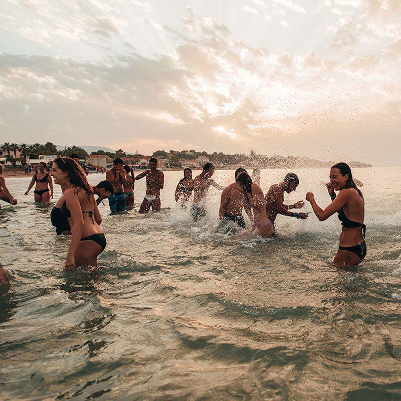 Beach party a Zante